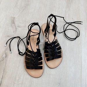 NEW American Eagle Strappy Black Sandals
